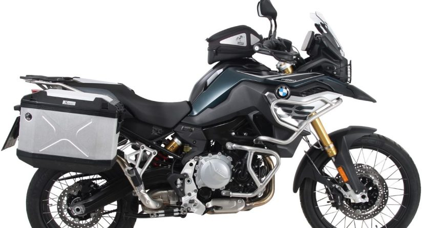 BMW F850GS with premium accessories from Hepco & Becker, stainless steel crash protection, Xplorer luggage cases, Tank Ring & Royster Tank Bag & more!